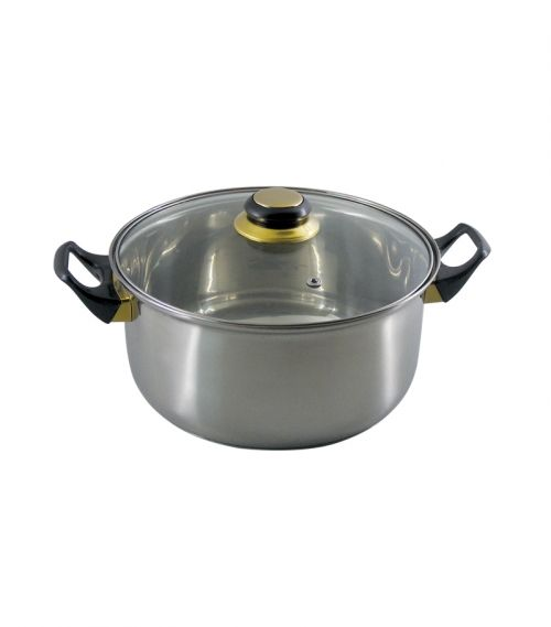 Cast Pot with glass lid  -  7 L