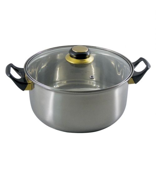 COOKWARE  INOX 4,6 L GLASS  LID