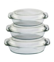 Round Casserol With Cover - 3 pcs EK-CR-345