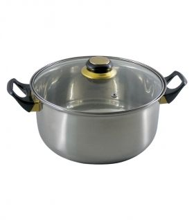 COOKWARE  INOX 3,6 L GLASS  LID